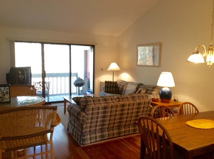 Brewster Cape Cod vacation rental - Living Dining Area with slider leading out to private deck