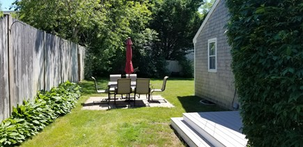 Hyannis Cape Cod vacation rental - Patio with outdoor dining set