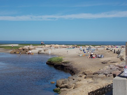 Brewster, Lower Cape, Located  Cape Cod vacation rental - Paines Creek Beach on Cape Cod Bay 9/10th mile from house