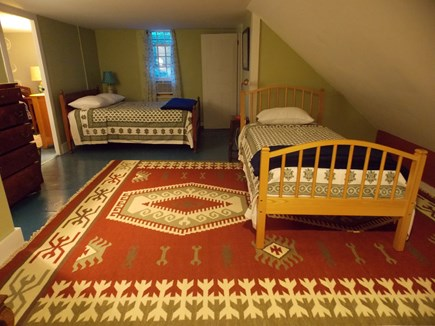 Brewster, Lower Cape, Located  Cape Cod vacation rental - Bedroom upstairs with double and twin beds