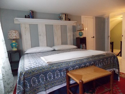 Brewster, Lower Cape, Located  Cape Cod vacation rental - King Bed upstairs, near bathroom, closet with shelves