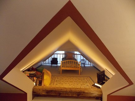 Brewster, Lower Cape, Located  Cape Cod vacation rental - Loft (above dining room) (for child only) Twin Bed - TV with DVD