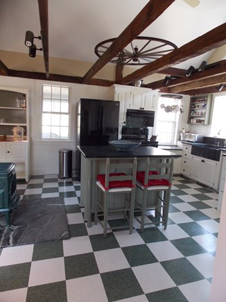 Brewster Cape Cod vacation rental - Newly renovated Kitchen with high ceiling - fan above