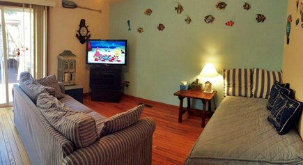 New Seabury New Seabury vacation rental - Aquarium family room with day bed convertible into two twins.