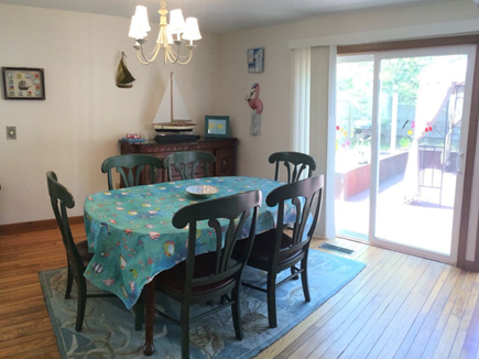 New Seabury New Seabury vacation rental - Captain's dining table & access to the deck