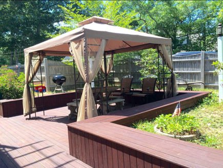 New Seabury New Seabury vacation rental - Large fenced deck with netted gazebo.