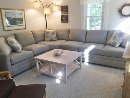 Eastham Cape Cod vacation rental - Living room with new furniture.