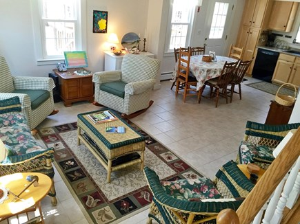 Eastham Cape Cod vacation rental - Sitting area and kitchen