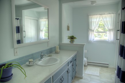 Orleans Cape Cod vacation rental - Bright and roomy bathroom, with tub/shower, bath and beach towels