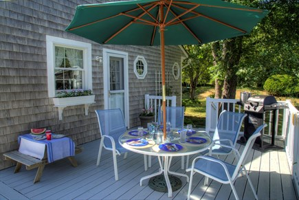 Orleans Cape Cod vacation rental - Dinner on the deck! BBQ and kids table too!