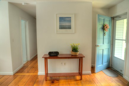 Orleans Cape Cod vacation rental - Welcome table, with an information book and music player.