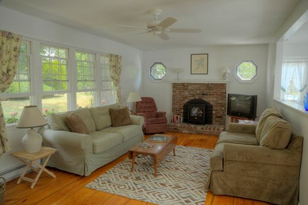 Orleans Cape Cod vacation rental - Living room, light and airy with plenty of windows.
