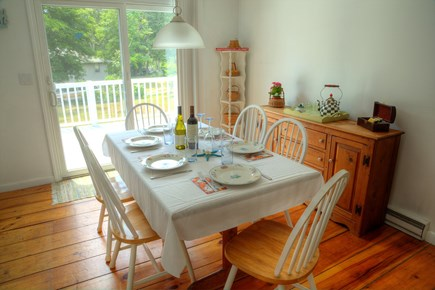 Orleans Cape Cod vacation rental - Dining area, seating for six and a complimentary tea bar.