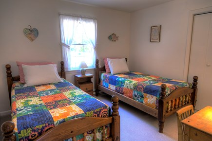 Orleans Cape Cod vacation rental - Two Twin beds, small bedroom with closet, dresser and kids desk.