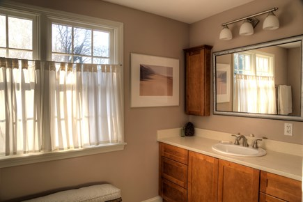 Orleans Cape Cod vacation rental - The en suite master bath (1/3) is large and has a full tub/shower