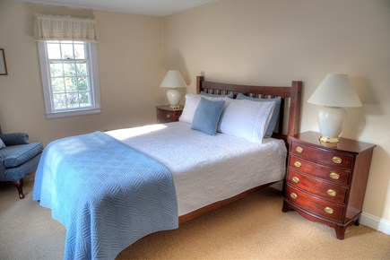 Orleans Cape Cod vacation rental - Bedroom 4/5, downstairs.  Queen bed and lots of beautiful light.