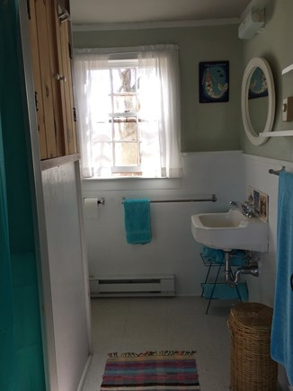 Wellfleet Cape Cod vacation rental - Bathroom with shower (additional, private outdoor shower)