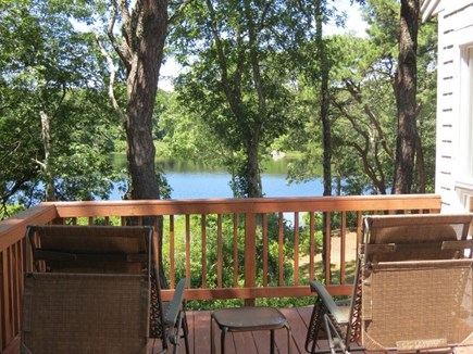 Brewster Cape Cod vacation rental - Large Deck has good size would table and Weber BBQ.