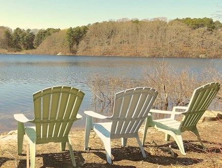 Brewster Cape Cod vacation rental - A great spot to sit and relax. Rental includes a canoe.