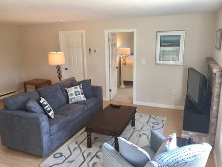 Brewster Cape Cod vacation rental - Family Room on lower level. Includes a TV for movies and games.