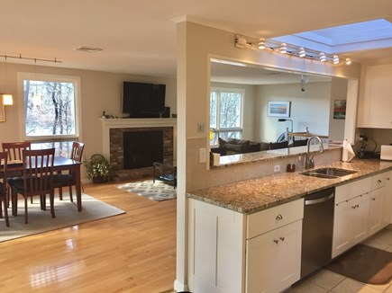 Brewster Cape Cod vacation rental - A View From Kitchen over Dining and Living Areas