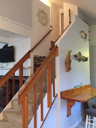 West Yarmouth Cape Cod vacation rental - Stairway to upstairs bedrooms and second bathroom