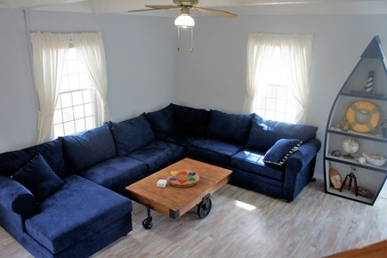 West Yarmouth Cape Cod vacation rental - Comfy sleeper couch in the living room