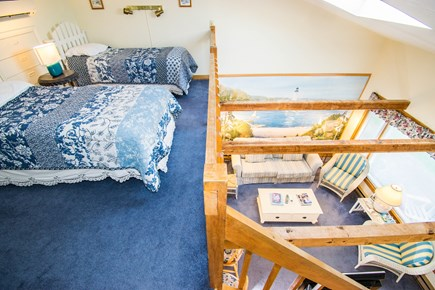 Chatham Cape Cod vacation rental - Second Floor loft area with living room below