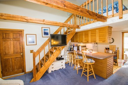 Chatham Cape Cod vacation rental - Breakfast Bar, flat screen TV, stairs to the loft