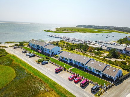 Chatham Cape Cod vacation rental - Condo with Outermost Harbor behind and beach to its left