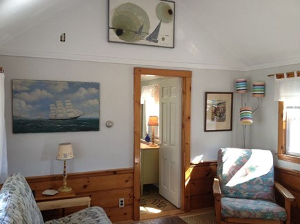 Dennis Port Cape Cod vacation rental - Living Room - Bright and Airy w/ Ceiling Fan