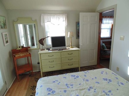 Dennis Port Cape Cod vacation rental - Bedroom - has Skylight, Ceiling Fan & 2nd Flat Screen Smart TV
