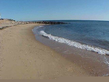 Dennis Port Cape Cod vacation rental - Sea St. Beach - Just 100 feet across the Street from the Cottage