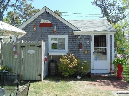 Dennis Port Cape Cod vacation rental - Front of Cottage with Outdoor Shower