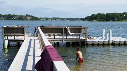 South Yarmouth Cape Cod vacation rental - South dock. North dock is a great swim 300 yards up river.