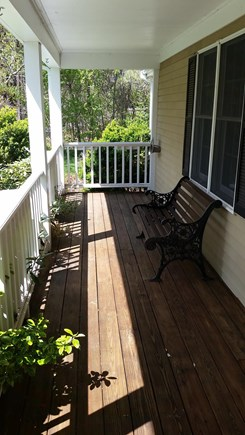 South Yarmouth Cape Cod vacation rental - Relax with a cocktail on the front porch.