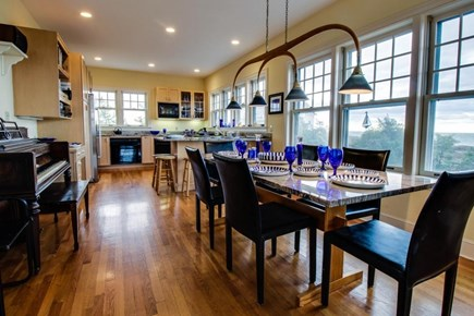 Falmouth Cape Cod vacation rental - Open dining room provides ample seating for 8 with water views
