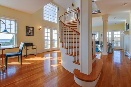 Falmouth Cape Cod vacation rental - Hardwood floors, high ceilings, large windows, & spiral staircase