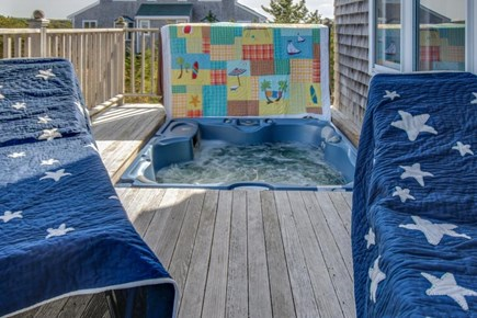 Falmouth Cape Cod vacation rental - Wrap-around deck on the main level features a private hot tub