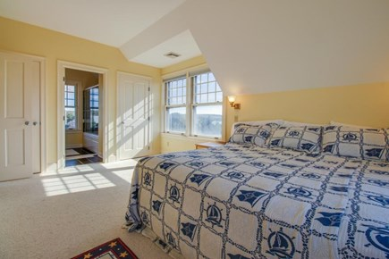 Falmouth Cape Cod vacation rental - Master bedroom features a king bed & beautiful bay views
