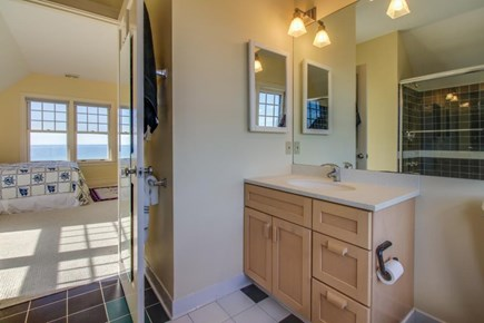 Falmouth Cape Cod vacation rental - Private en-suite master bathroom w/ bath tub & shower