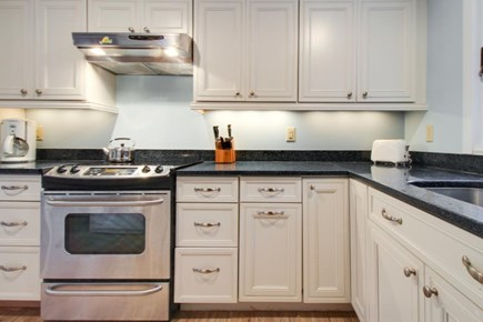 Falmouth Cape Cod vacation rental - Custom Corian countertops & high-end stainless steel appliances