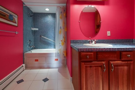 Falmouth Cape Cod vacation rental - Private en-suite master bath w/ large tub & shower combination