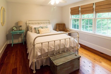Falmouth Cape Cod vacation rental - 1st floor bedroom w/queen-size bed & coastal decor