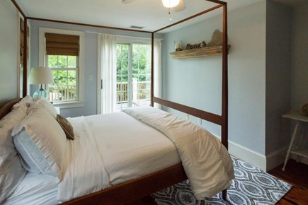 Falmouth Cape Cod vacation rental - Double-size bed & sliding glass doors out to the sunny deck
