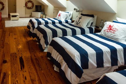 Falmouth Cape Cod vacation rental - 4th floor has 4 twin-size beds & 2 alcoves w/twin-size mattresses