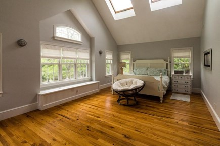 Falmouth Cape Cod vacation rental - Huge master suite features lofted ceilings, skylights, & king bed