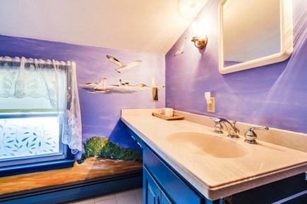 Dennis Cape Cod vacation rental - Fun beach-themed full bathroom