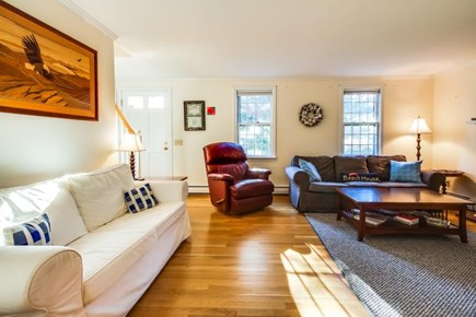 Dennis Cape Cod vacation rental - Relax in the living room & watch the flatscreen cable TV