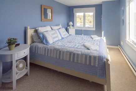 Chatham Cape Cod vacation rental - The calming blue master bedroom has a large & cozy queen-size bed